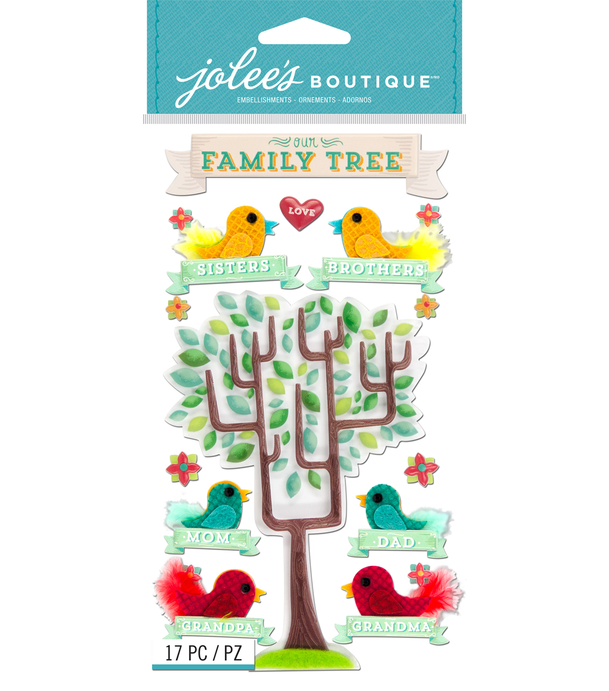Jolee's Boutique® Stickers-Family Tree