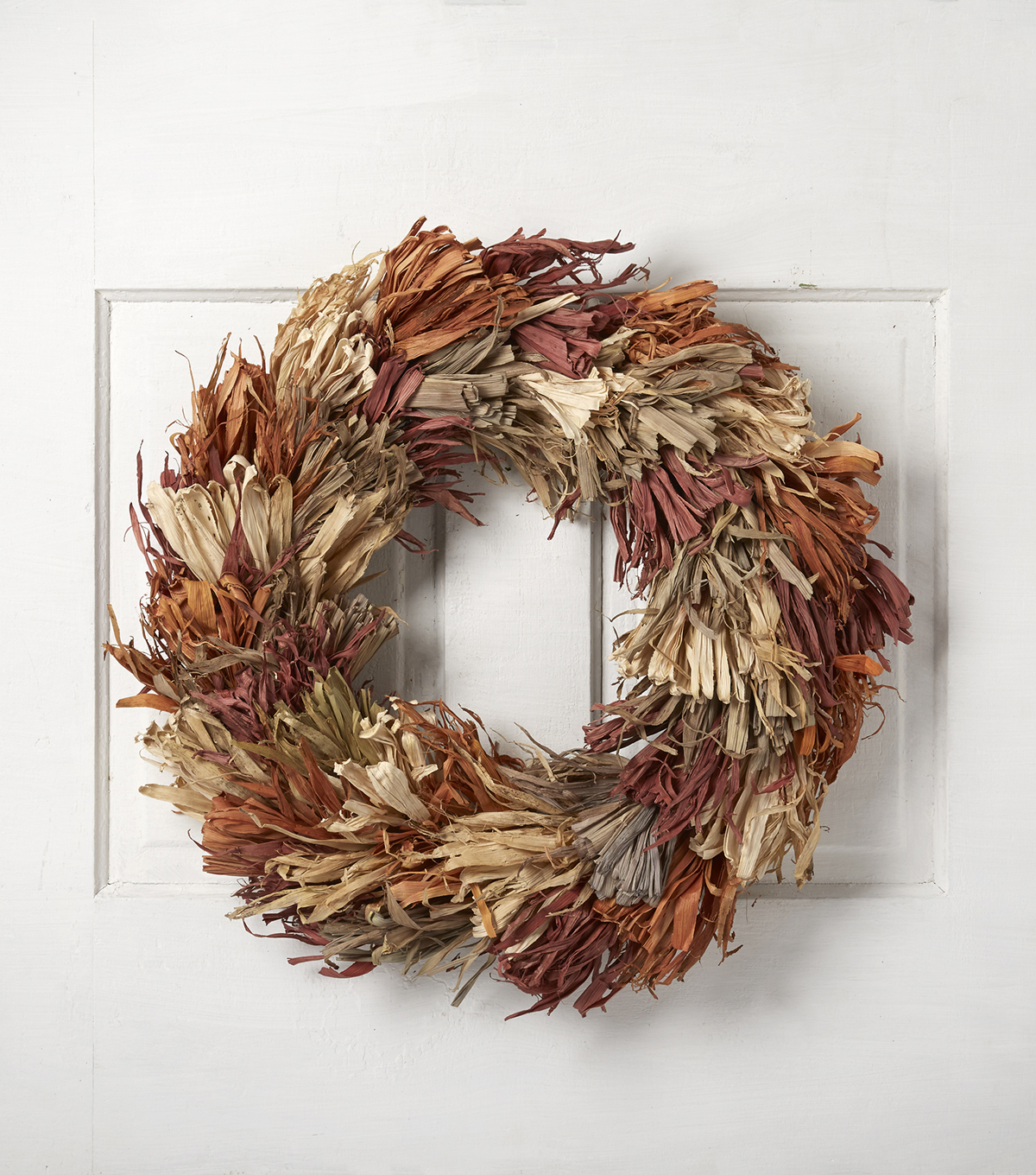 Blooming Autumn 23\u0027\u0027 Corn Husk Wreath
