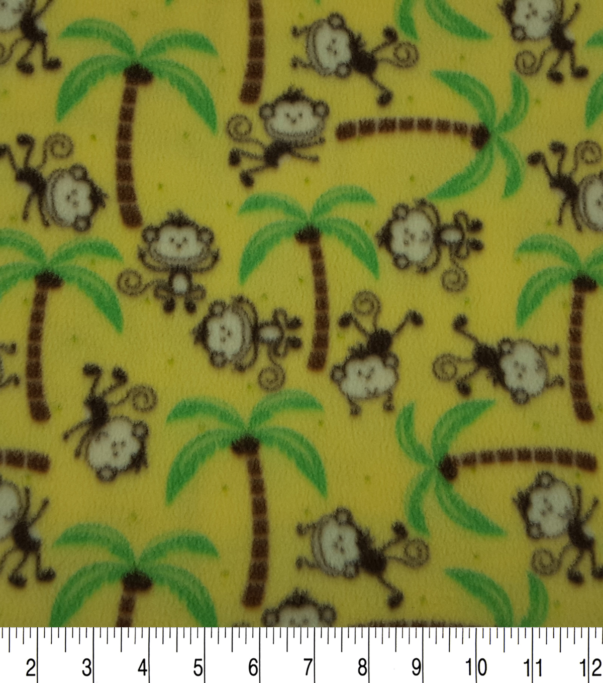 Anti-Pill Fleece Fabric 59\u0022-Happy Monkeys