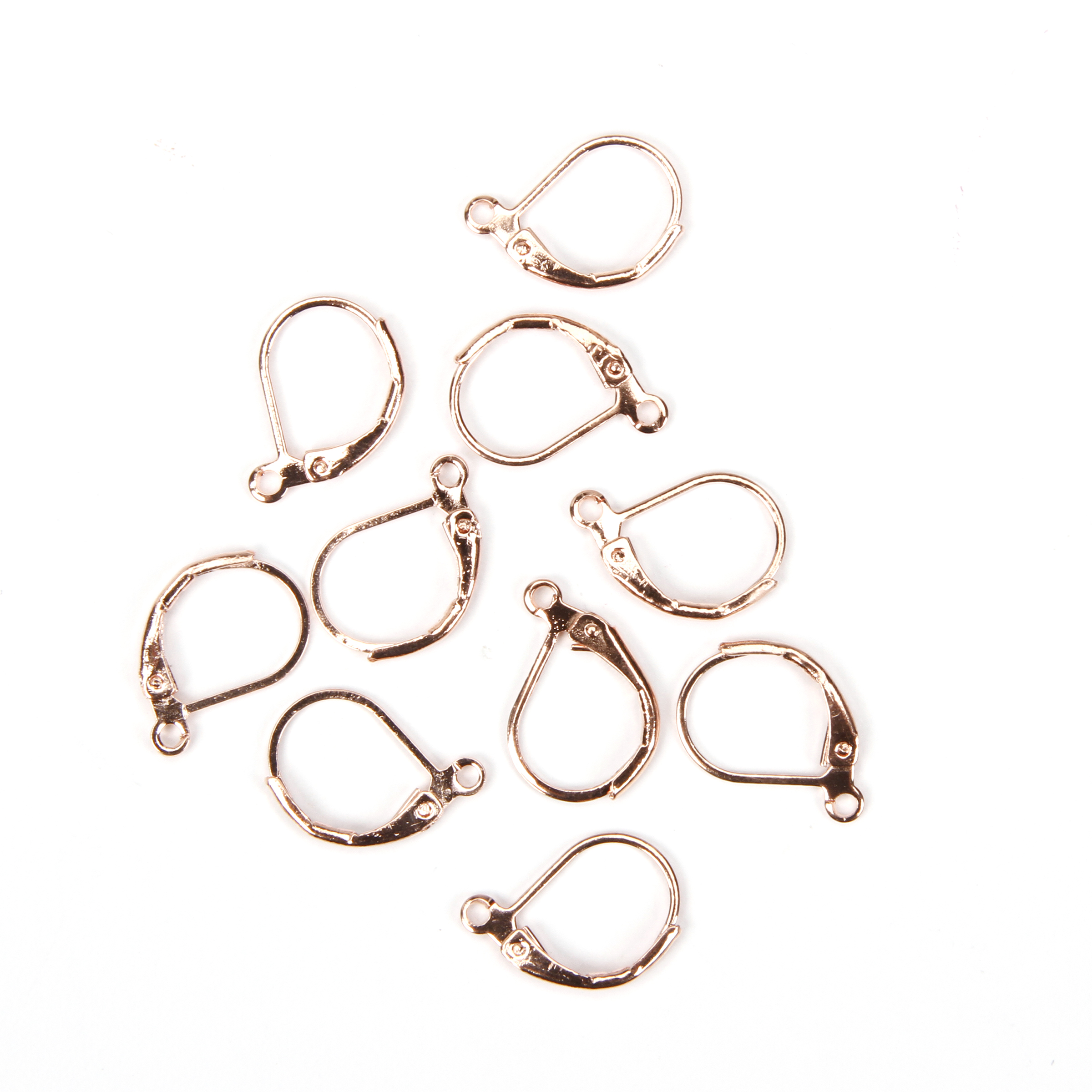 Rose Gold French Clip Earring Bases, 10pc/pkg