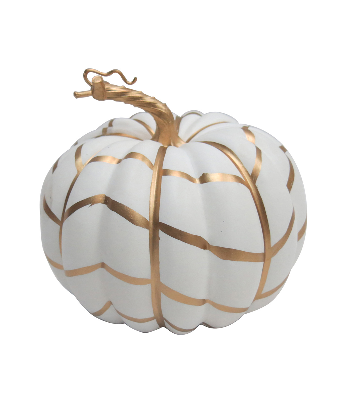 Pumpkin Boutique Halloween Medium Pumpkin-Gold Graphic Stripe