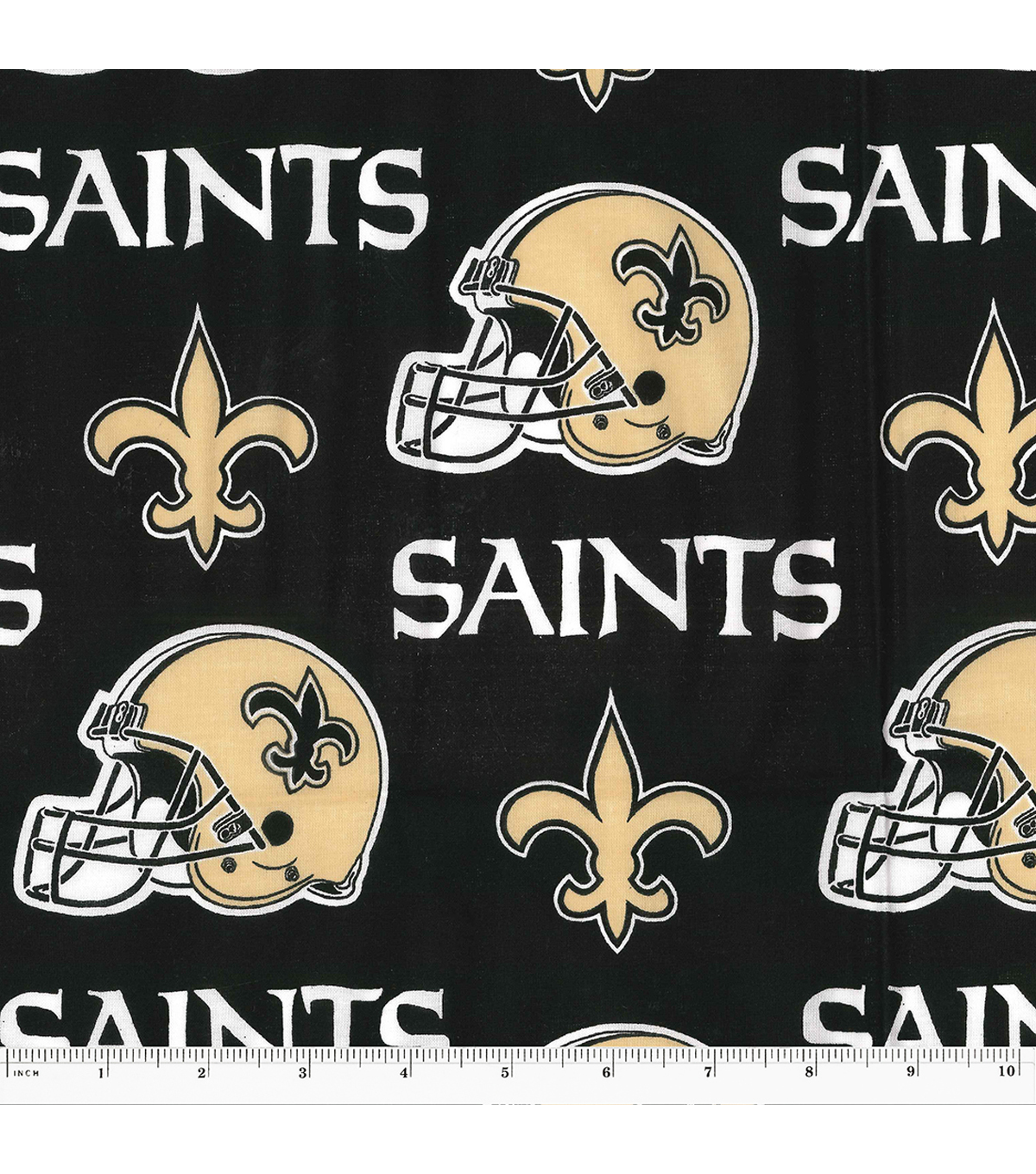 New Orleans Saints Cotton Fabric 58\u0022-Helmet Logo