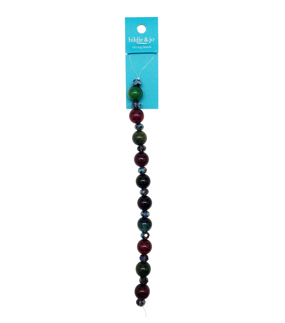 hildie & jo™ 12 mm Round Strung Beads-Assorted Colors