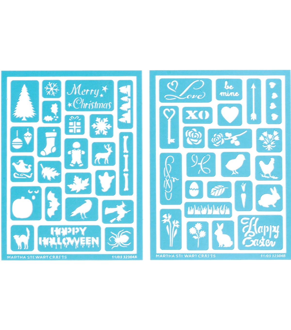 Martha Stewart Adhesive Stencils 2 Sheets/Pk-Holiday Icons II