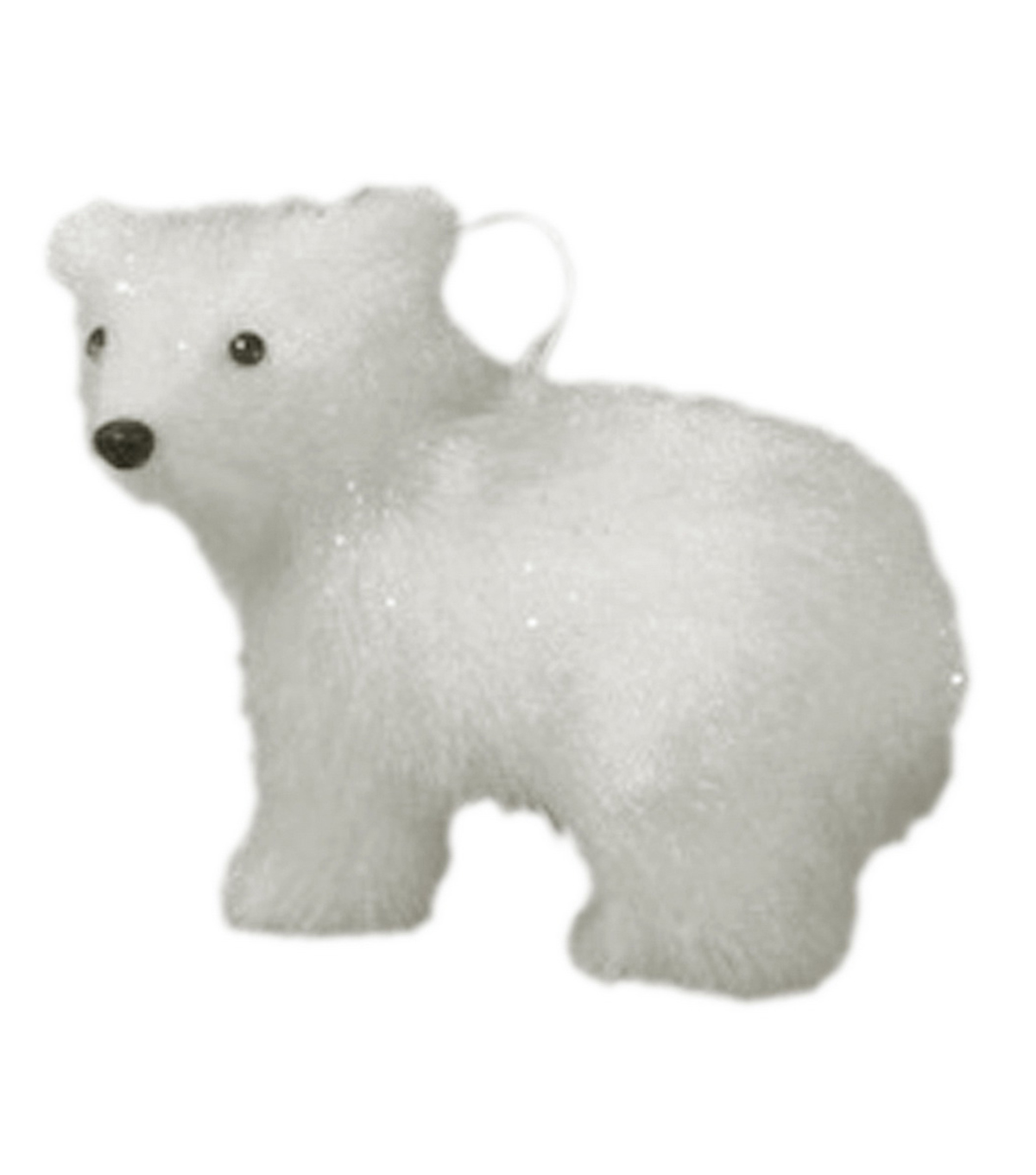 Maker\u0027s Holiday Christmas Arctic Frost Polar Bear Ornament-White