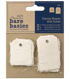 Papermania Bare Basics Small & Large Tag Canvas Shapes