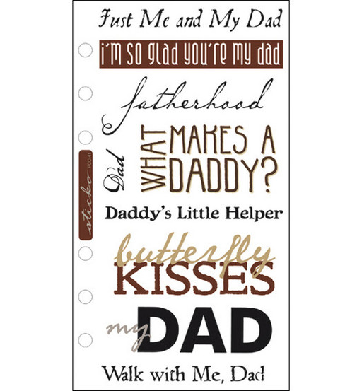 Sticko Phrase Cafe Classics Stickers-My Dad