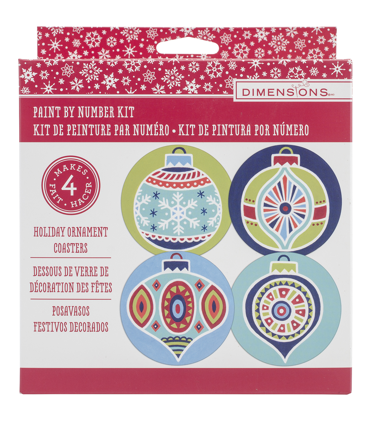 Dimensions® Paint Works Paint By Number Kit-Christmas Coasters