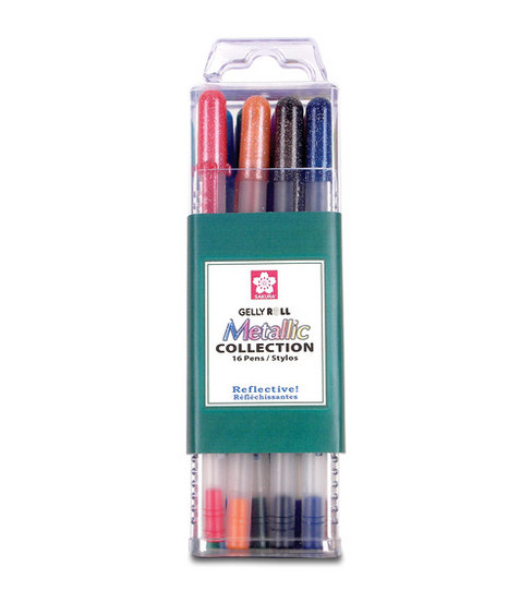 Gelly Roll Metallic Medium Point Pens 16/Pkg-Assorted Colors