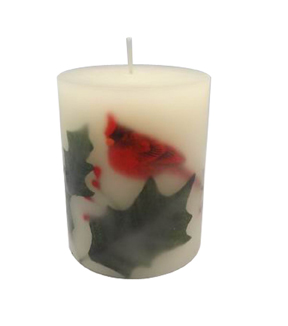 Maker\u0027s Holiday 3\u0027\u0027x4\u0027\u0027 Pillar Candle-Embedded Bird