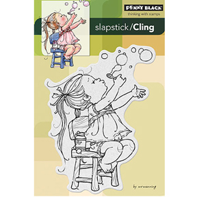 Penny Black Slapstick/Cling Rubber Stamp Bubble Girl