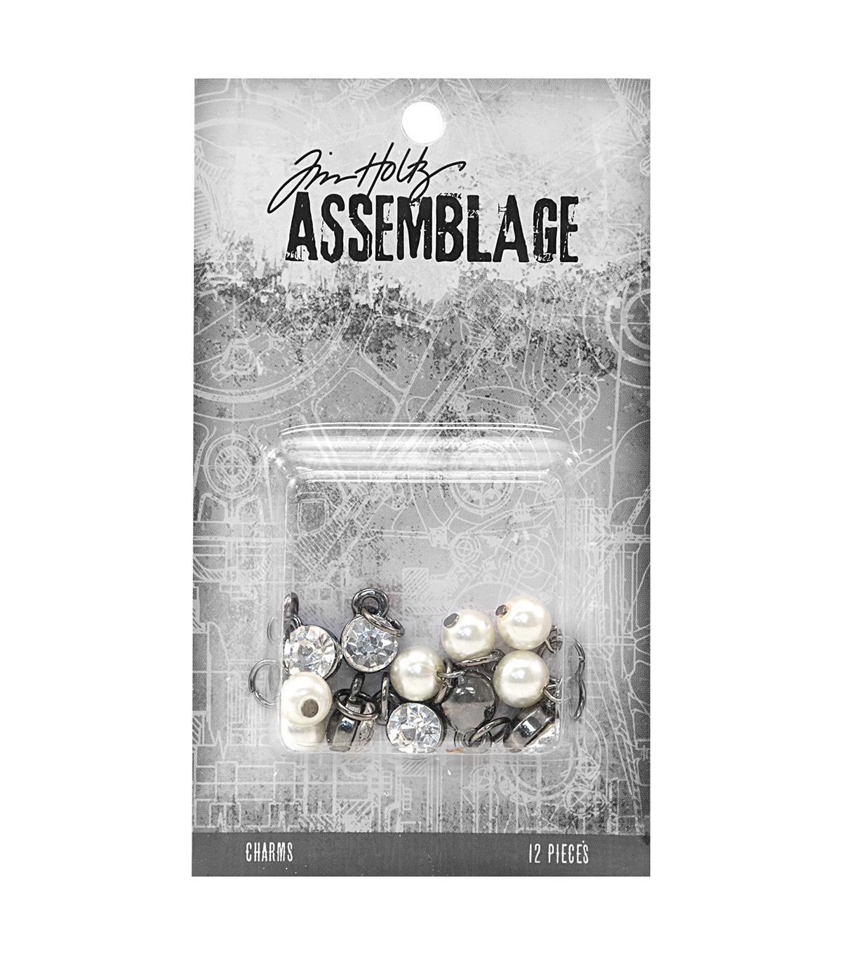 Tim Holtz® Assemblage Pack of 12 Diamonds & Pearls Charms