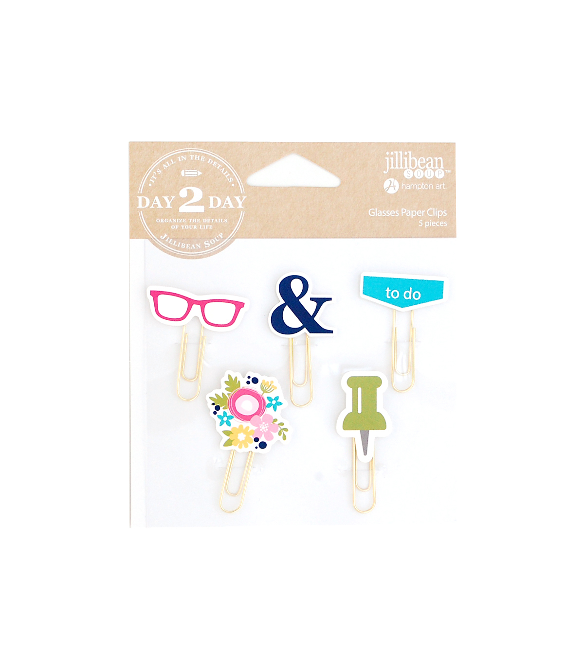 Jillibean Soup Day 2 Day 5 Pack Paperclips-Glasses