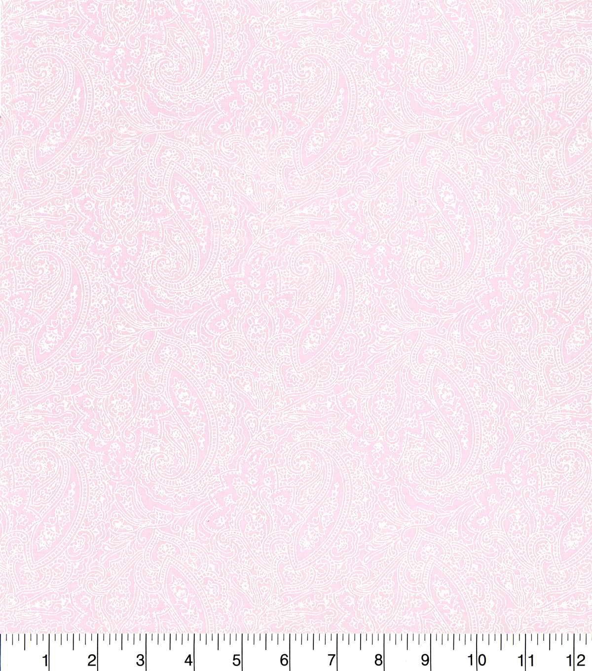 "Made in America Cotton Fabric 44""-Pearl Paisley Pink"