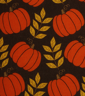 Holiday Showcase™ Harvest Cotton Fabric 43\u0022-Large Pumpkins