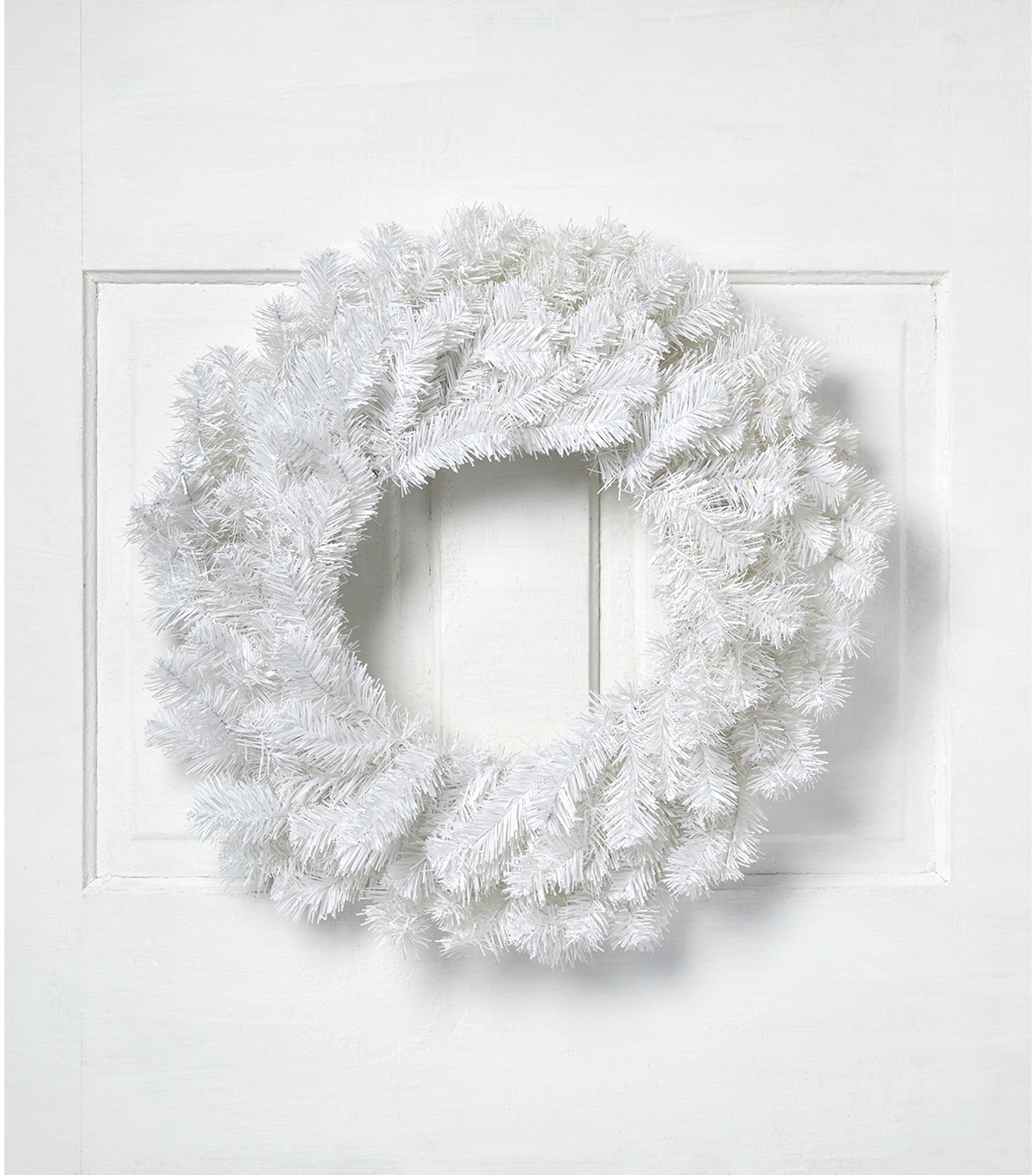 Blooming Holiday Christmas 24\u0027\u0027 PVC Wreath-White