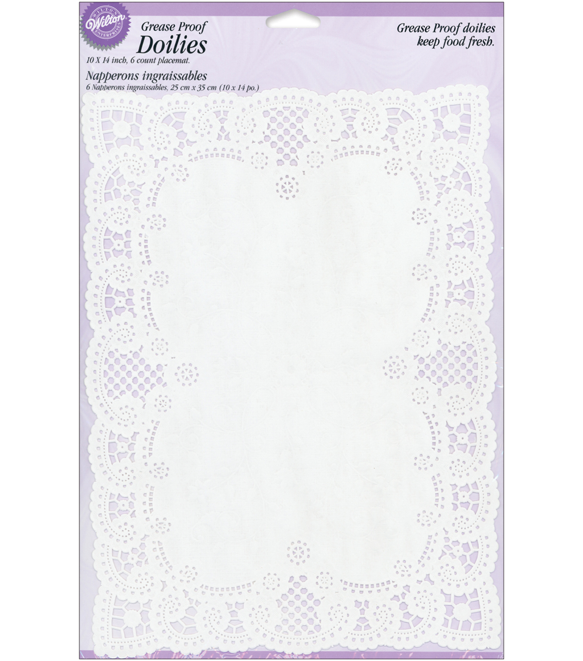 Wilton® 10''x14'' Grease-Proof Doilies-Rectangle