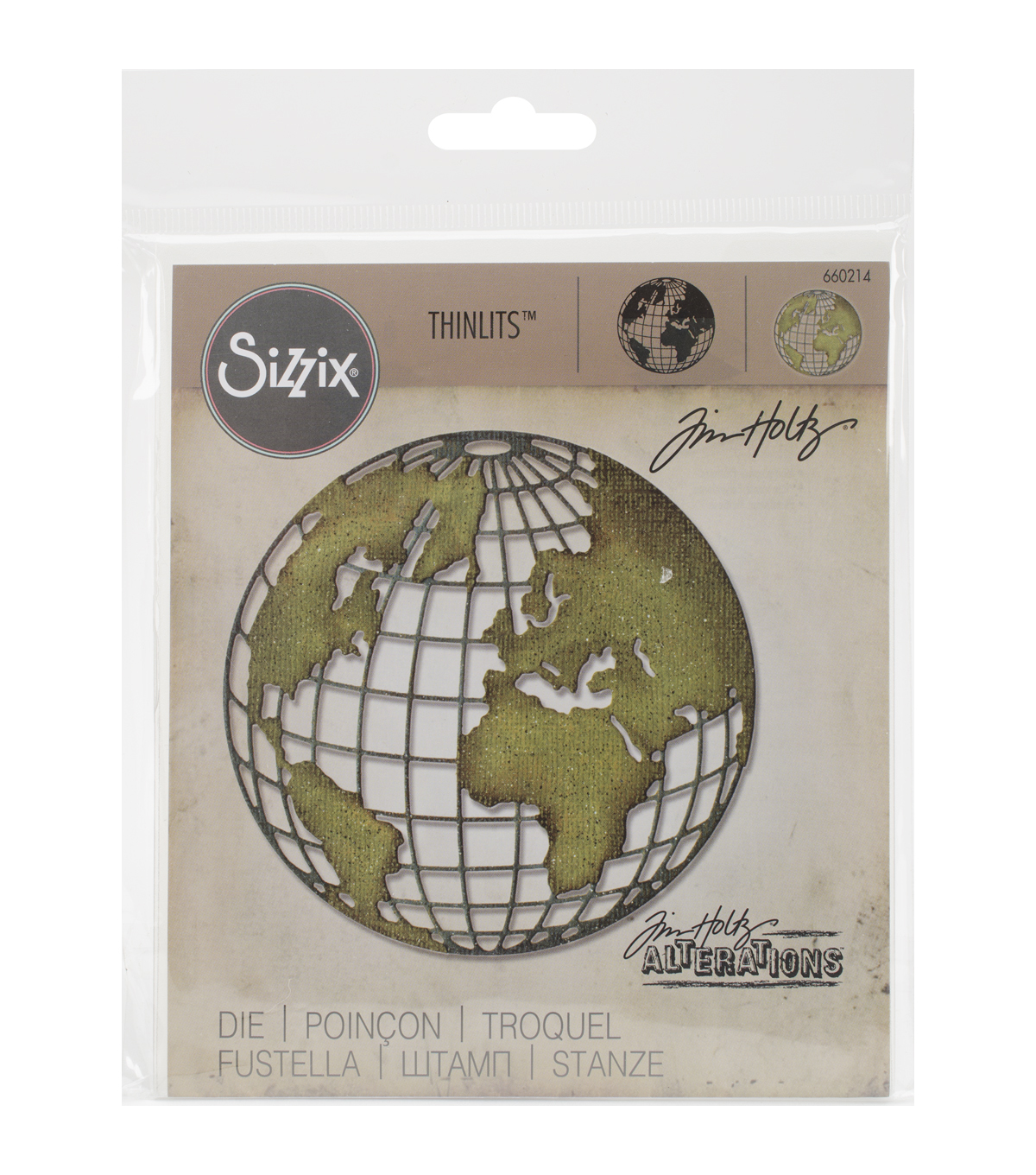 Sizzix Thinlits Die By Tim Holtz-Globe