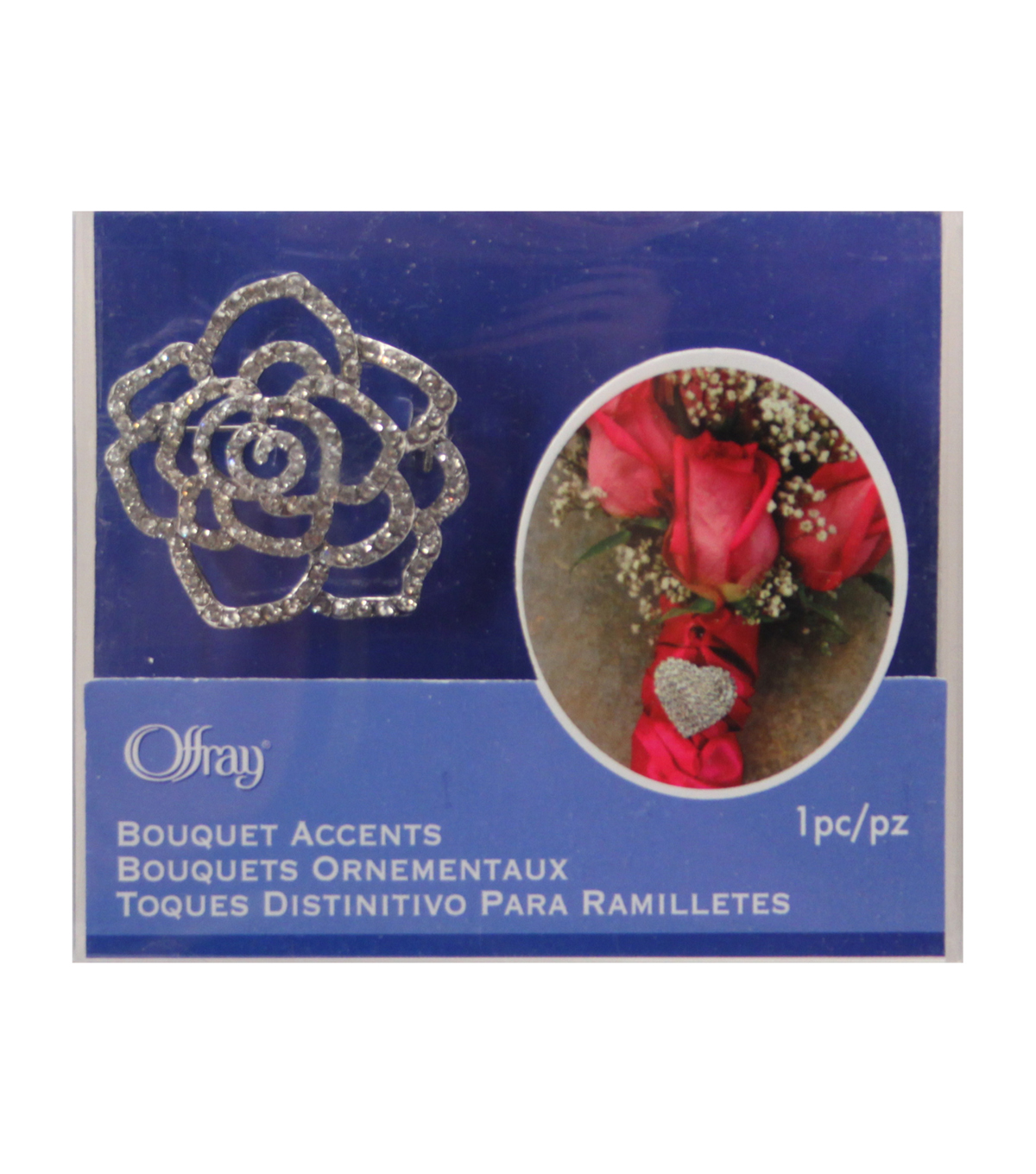 Rose Rhinestone Broach
