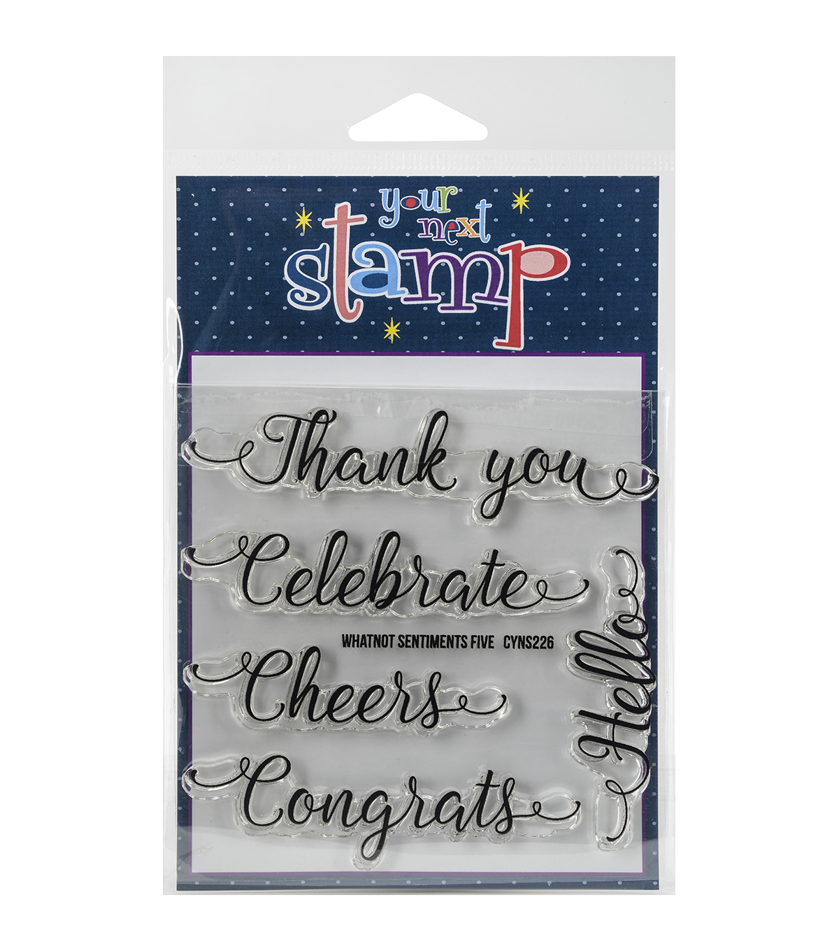 Your Next Stamp Clear Stamps-Whatnot Sentiment Set