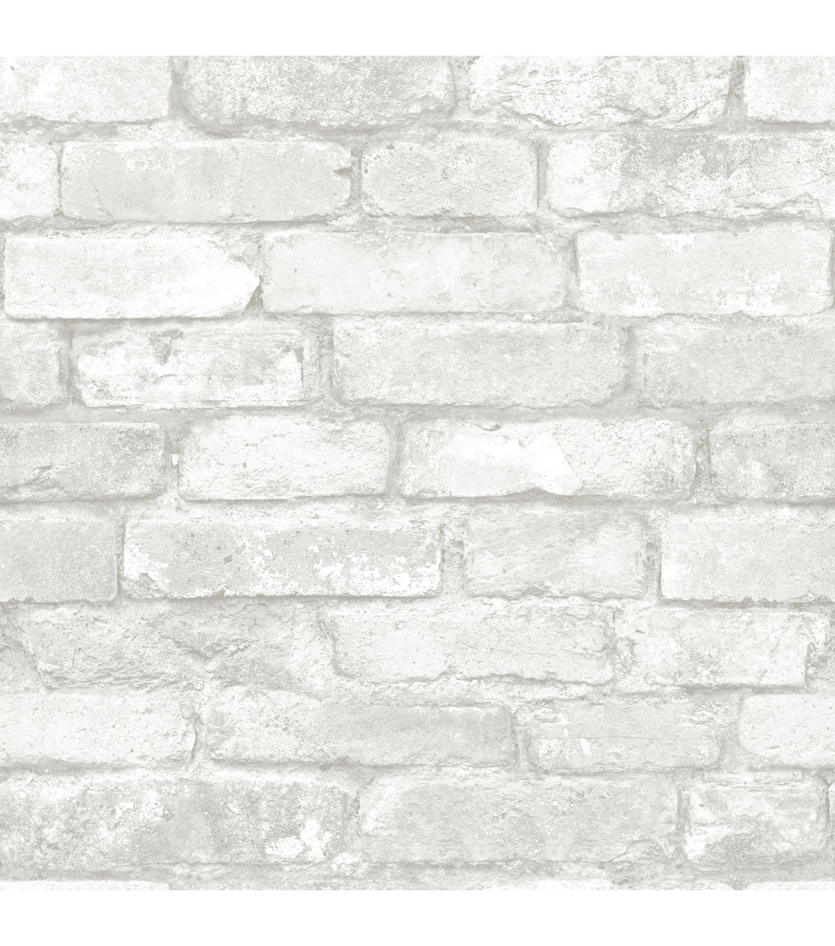 WallPops® NuWallpaper™ Grey White Brick