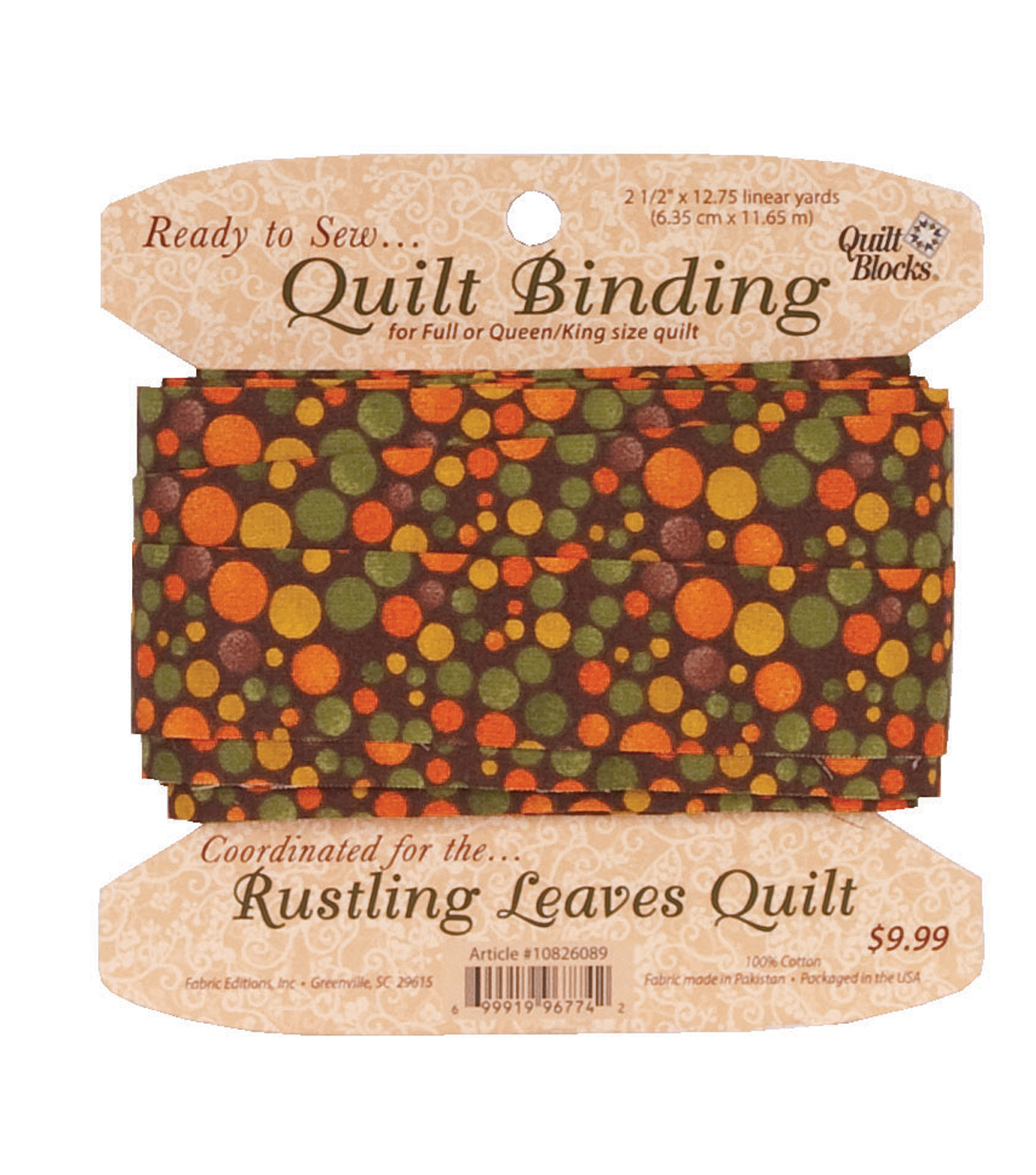 Quilt Block of the Month-Rustling Leaves Binding Kit