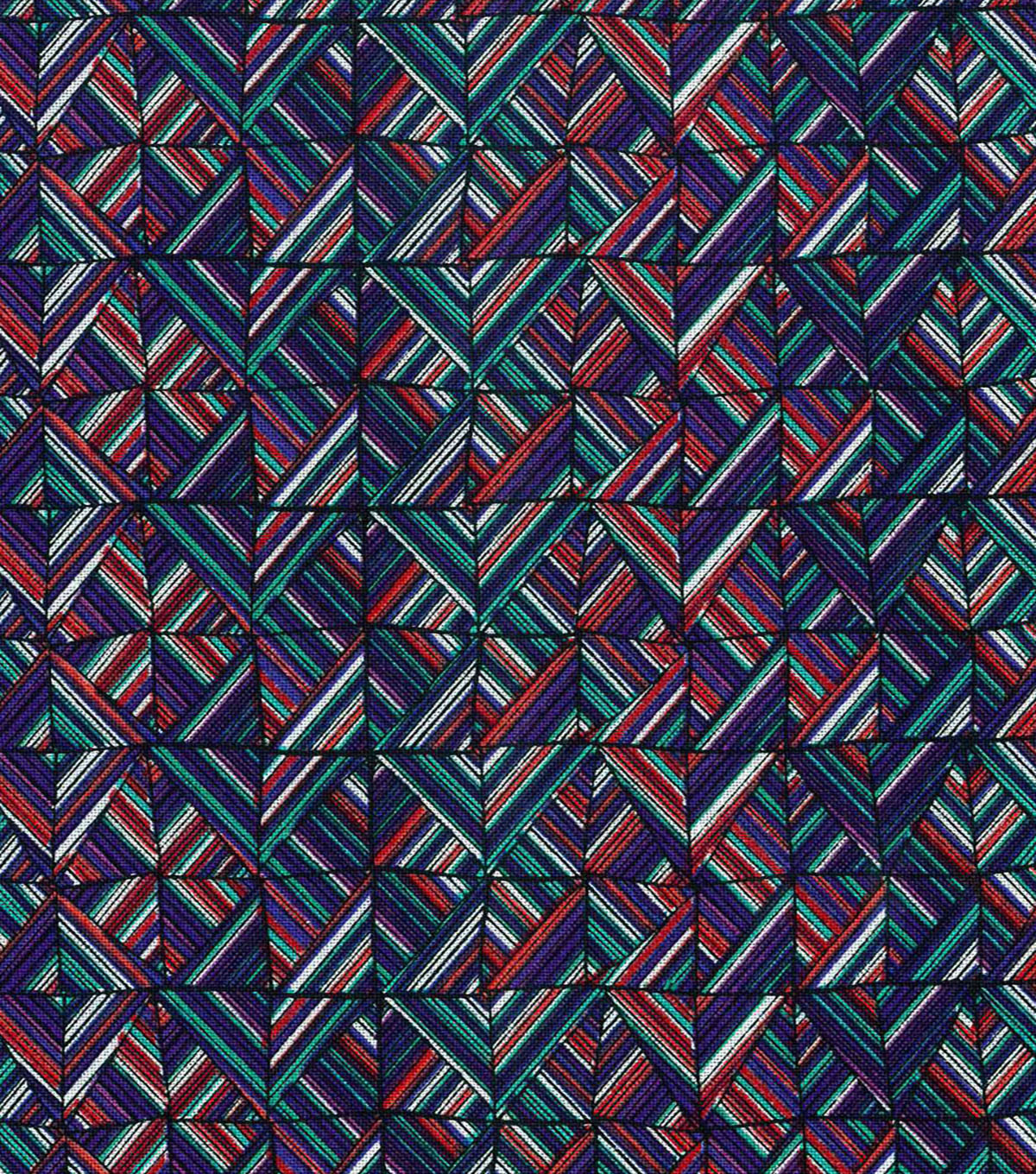 Modern Cotton Fabric 43\u0027\u0027-Wavy Diamond Lines
