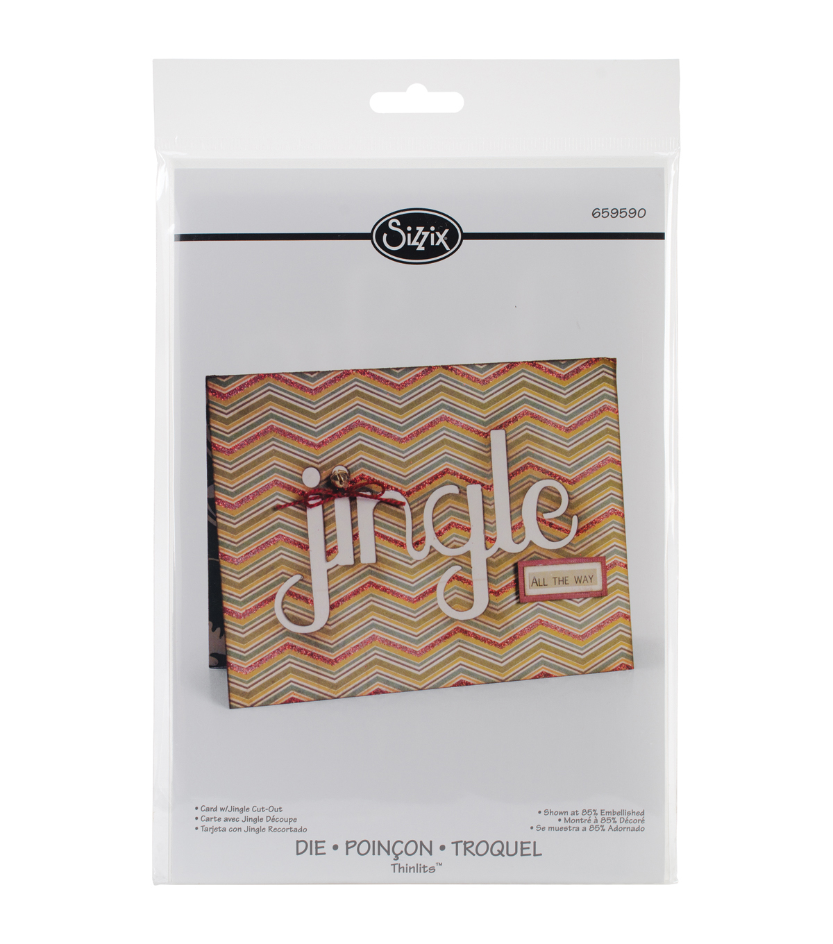 Sizzix Thinlits Jingle Cut-Out Card Die