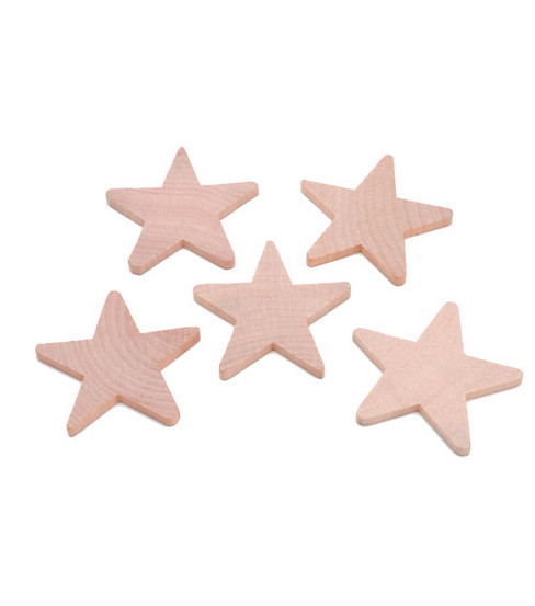 Darice® Big Value! 2-1/4\u0022x3/16\u0022 Wood Stars