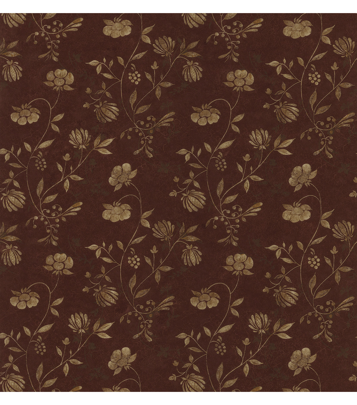 Giacamo Burgundy Jacobean Trail Wallpaper Sample
