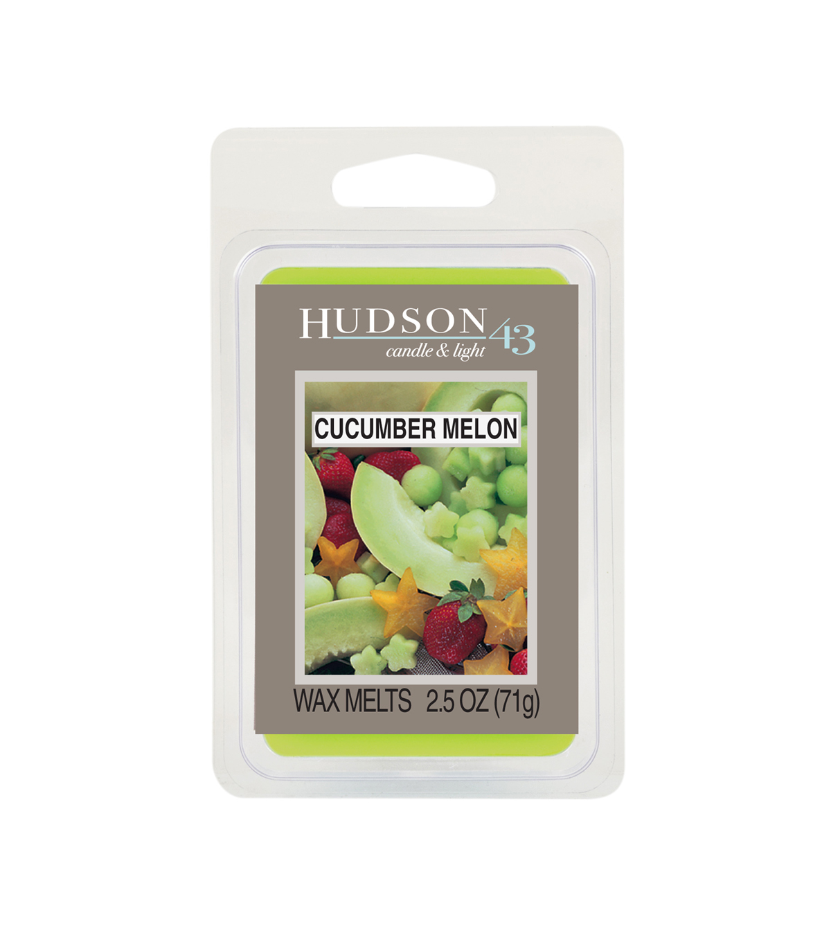 Hudson 43™ Candle & Light Collection Wax Melt-Cucumber Melon
