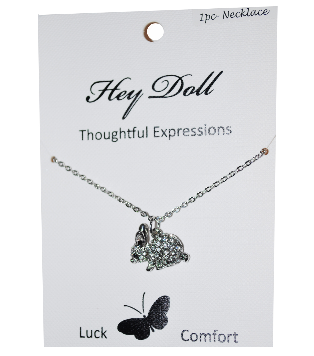 Hey Doll Silver Bunny Necklace