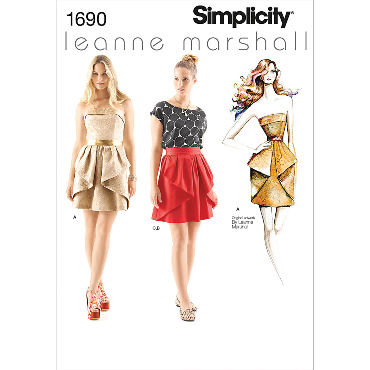 Simplicity Pattern 1690D5 4-6-8-10-1-Misses Special Occas