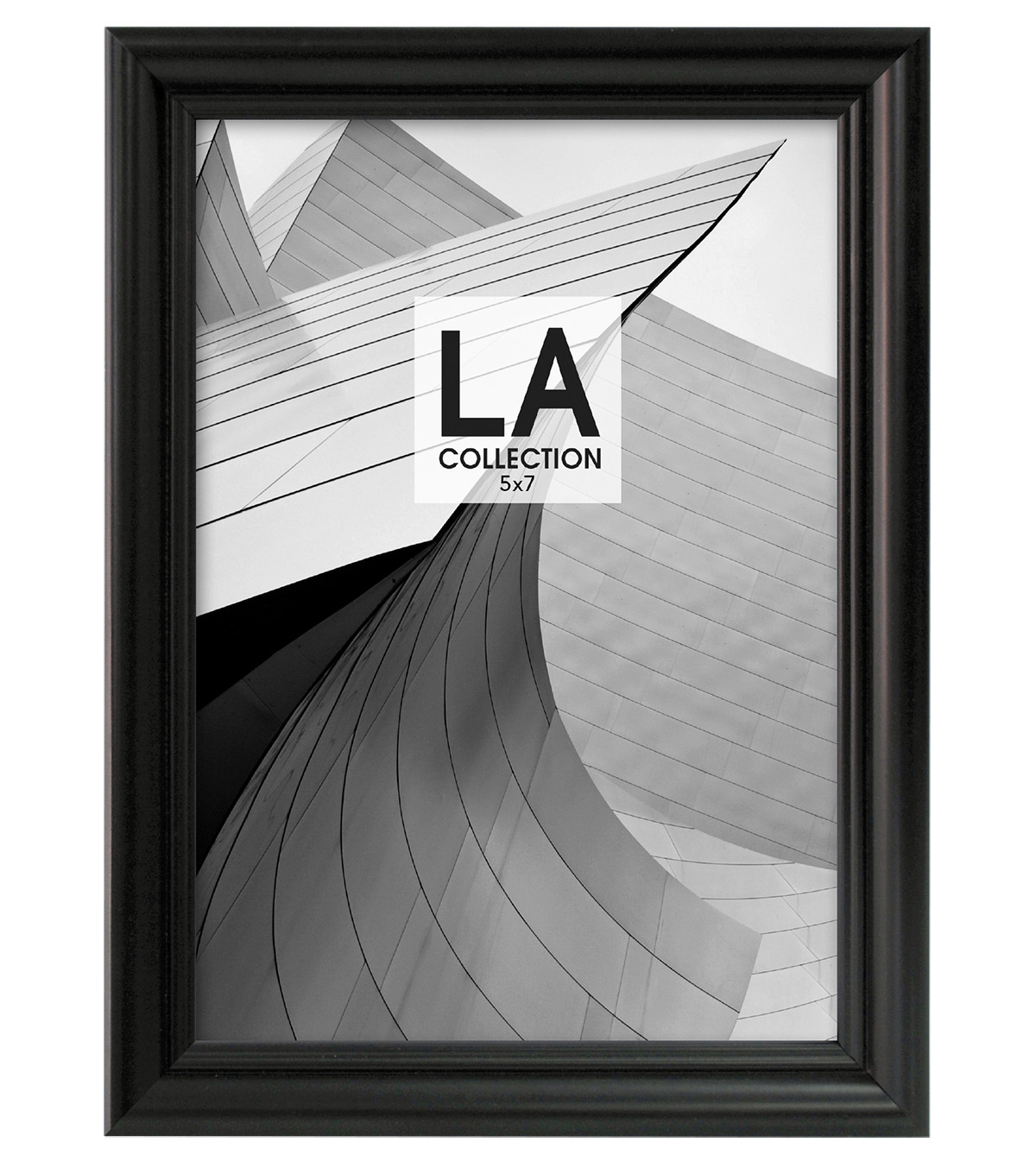LA Collection Traditional Tabletop Frame 5x7-Black