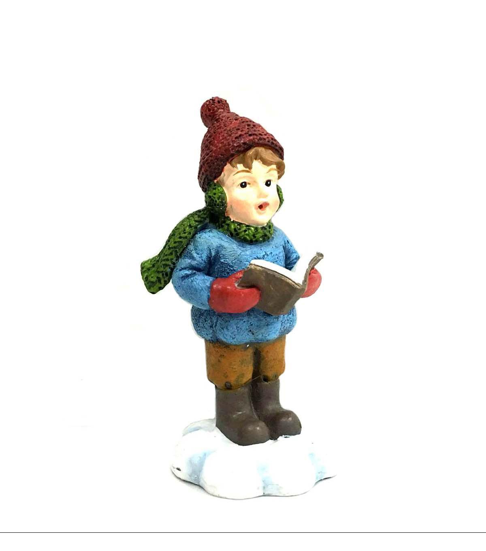 Christmas carolers figurines for sale - Maker S Holiday Littles Resin Boy Caroler Figurine