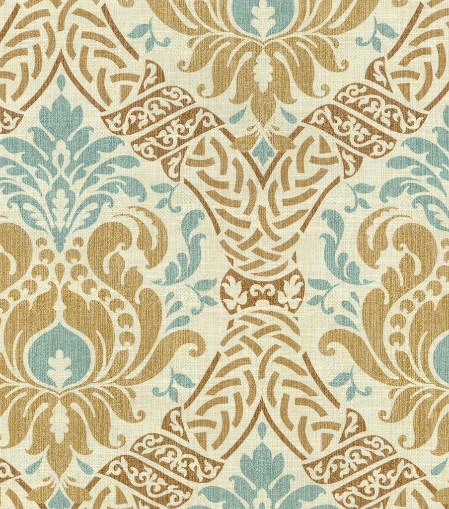 Waverly Dressed Up Damask Upholstery Fabric 54\u0022-Birch