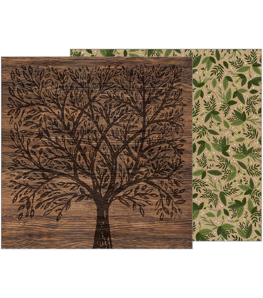 Heart Of Home Double-Sided Cardstock 12\u0022X12\u0022-Forest Botanical