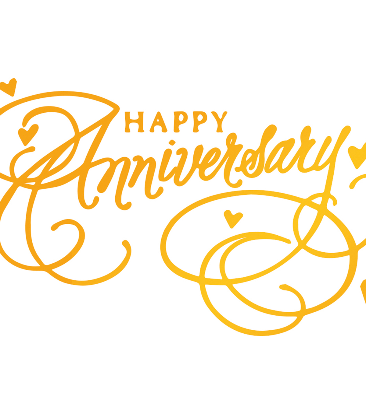 Ultimate Crafts Classic Sentiments Hotfoil Plate-Happy Anniversary