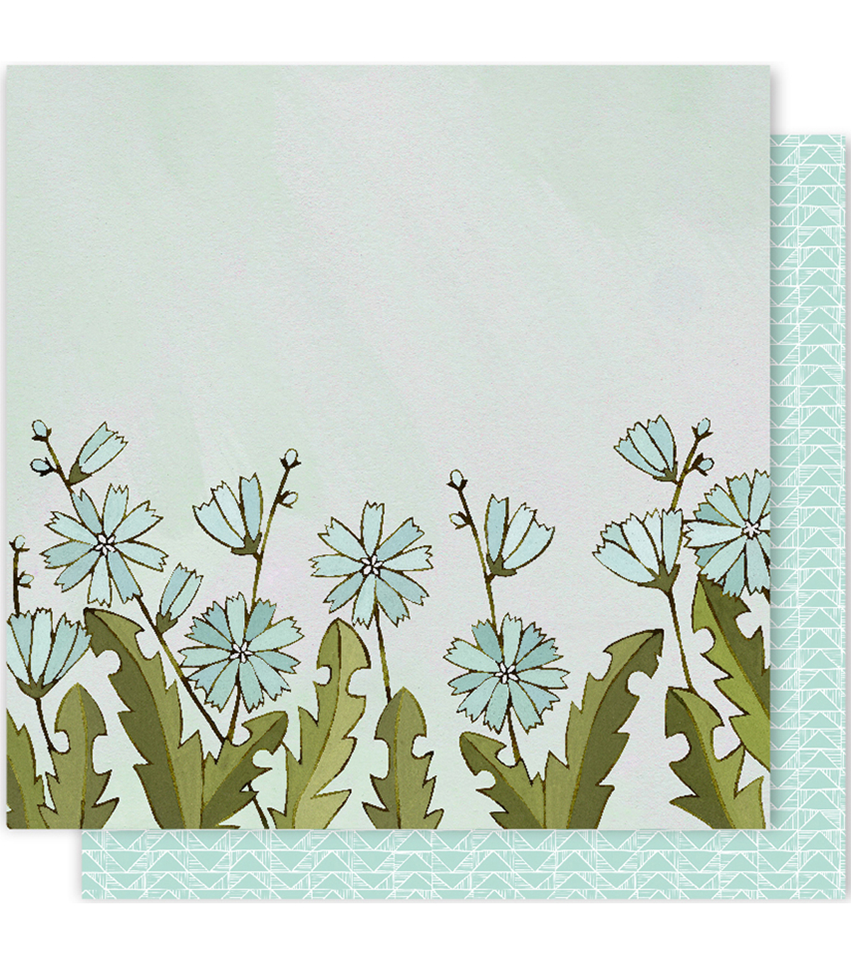 One Canoe Two Creekside Double-Sided Cardstock 12\u0022X12\u0022-Chicory