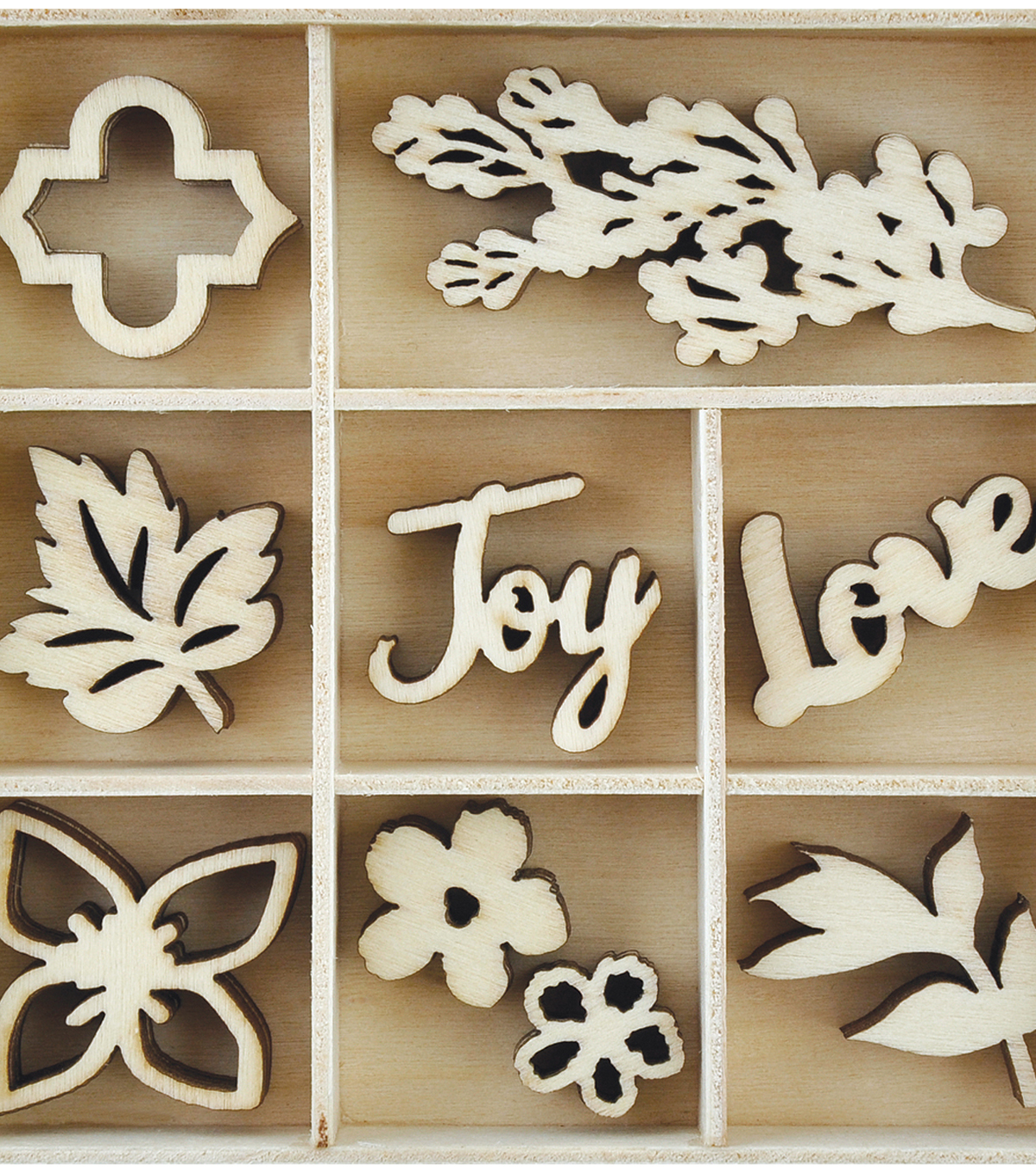 Themed Mini Wooden Flourishes-Garden