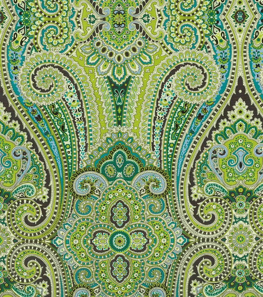 Paisley Pizzazz/peacock Swatch