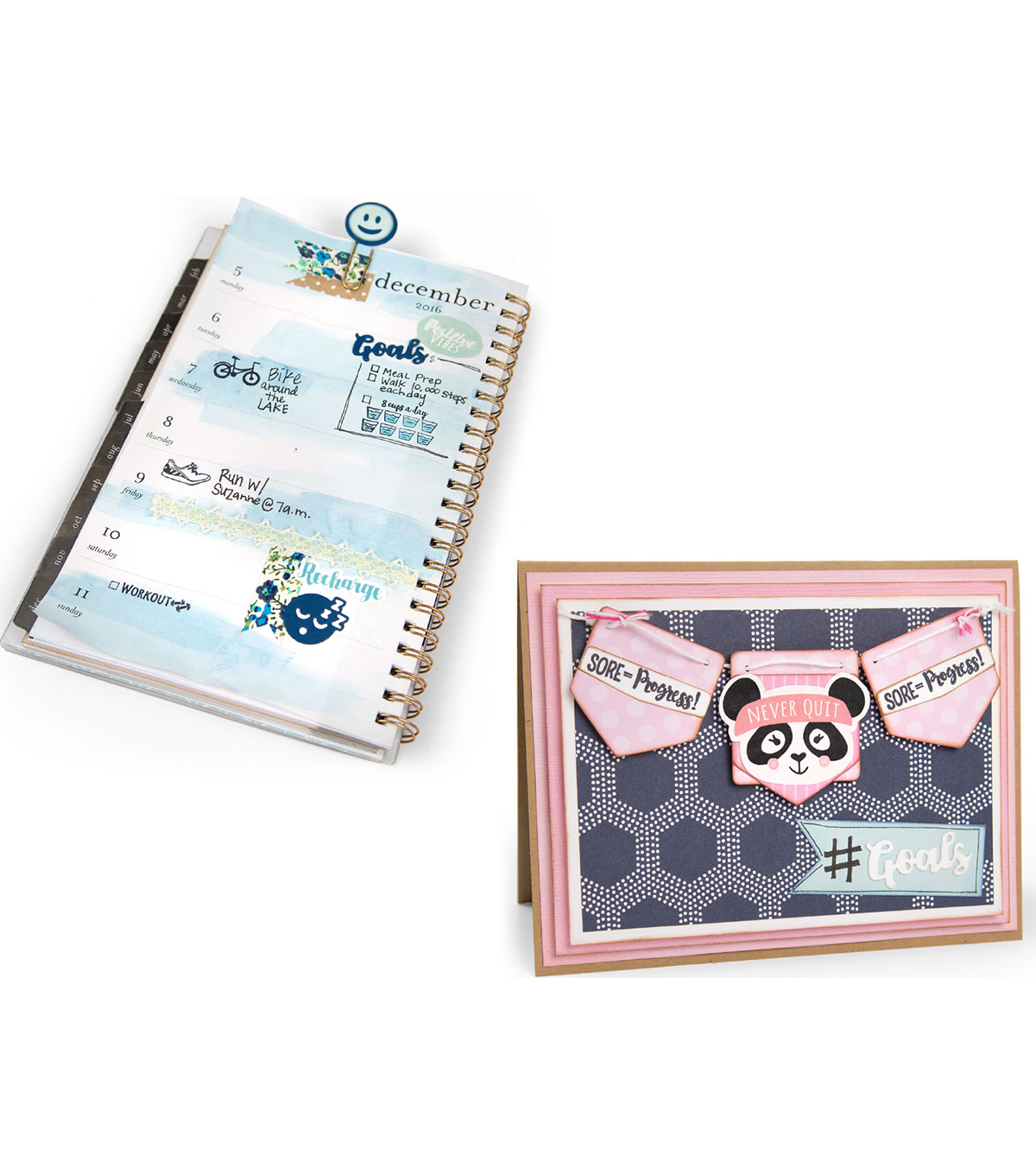Sizzix® Framelits™ Dies with Stamps-Health & Fitness Planner