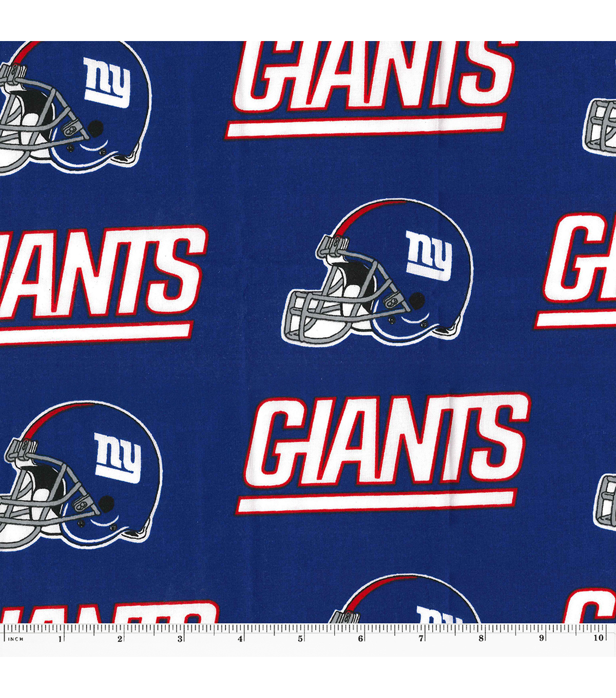New York Giants Cotton Fabric 58\u0027\u0027-Helmet Logo