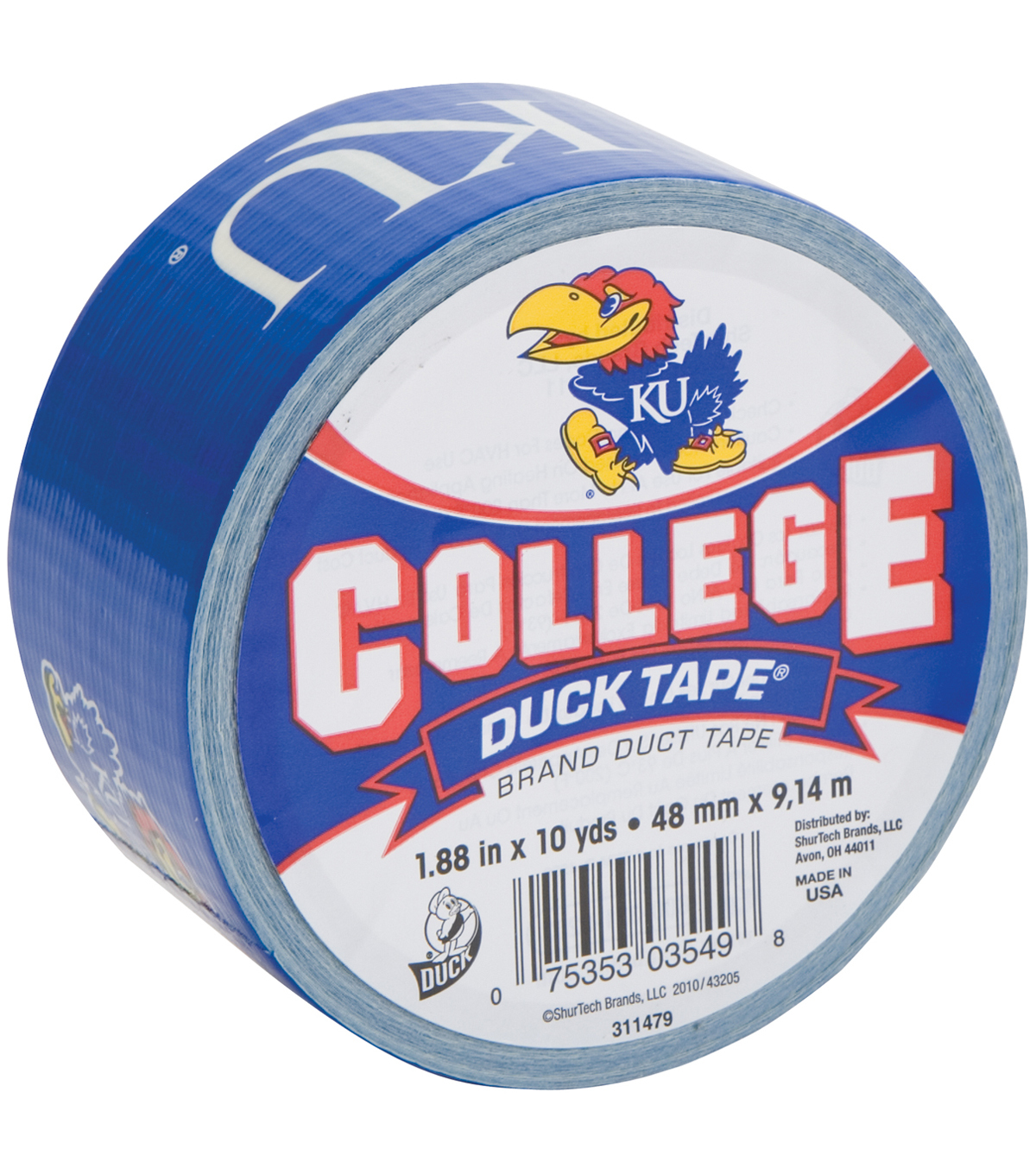 Duck Tape College Logo U of Kansas
