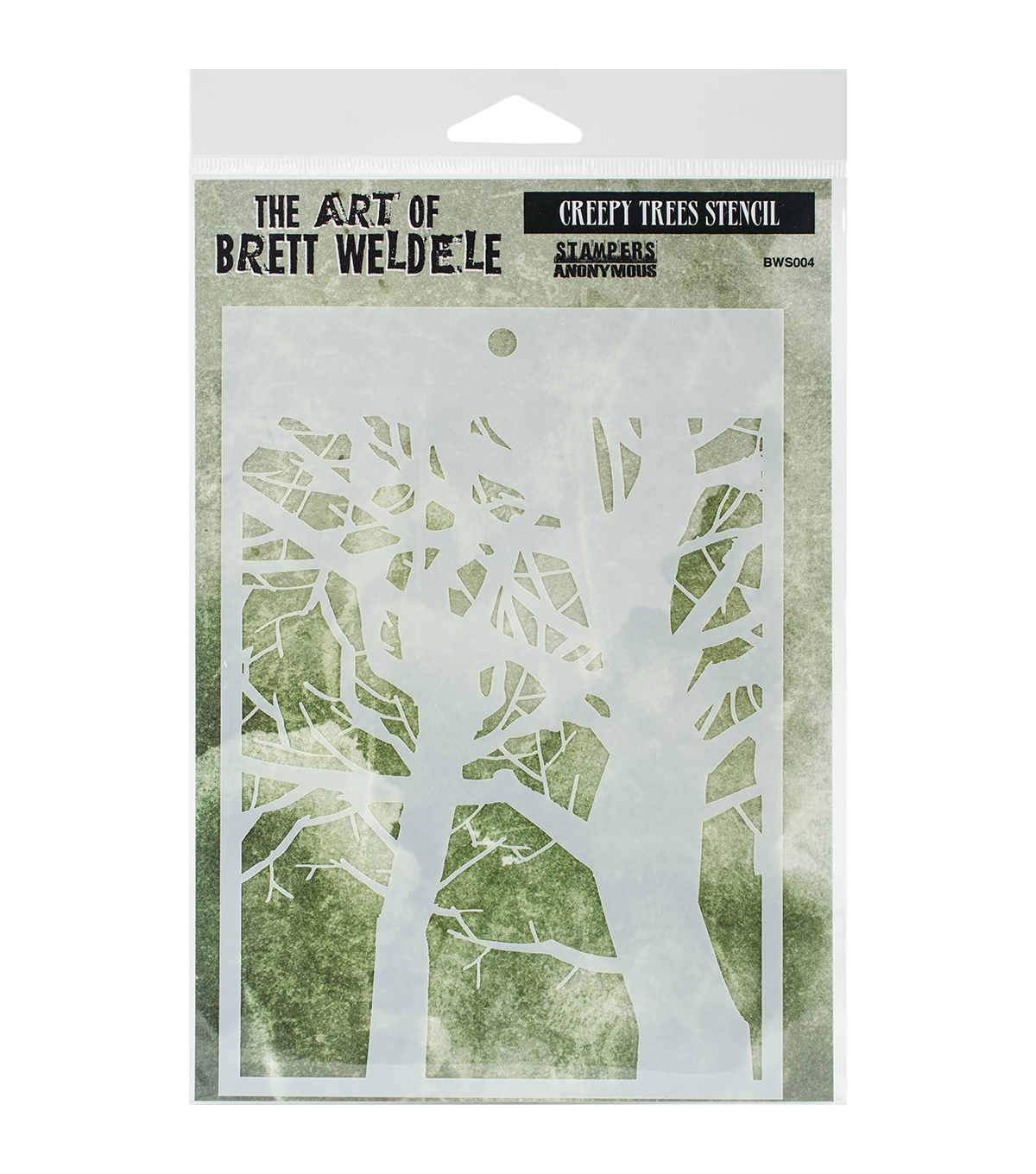 Stampers Anonymous® The Art Of Brett Weldele Stencil-Creepy Trees