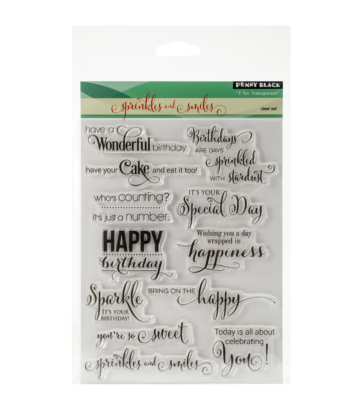 Penny Black Clear Stamps 5\u0022X7\u0022-Sprinkles & Smiles