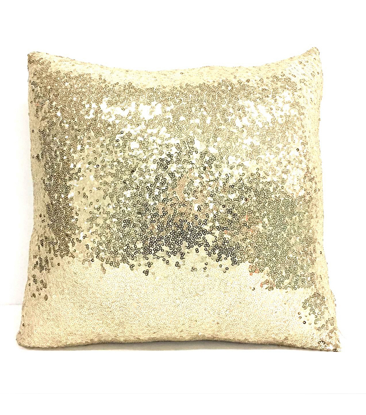 Maker\u0027s Holiday White Pillow With Gold Sequins