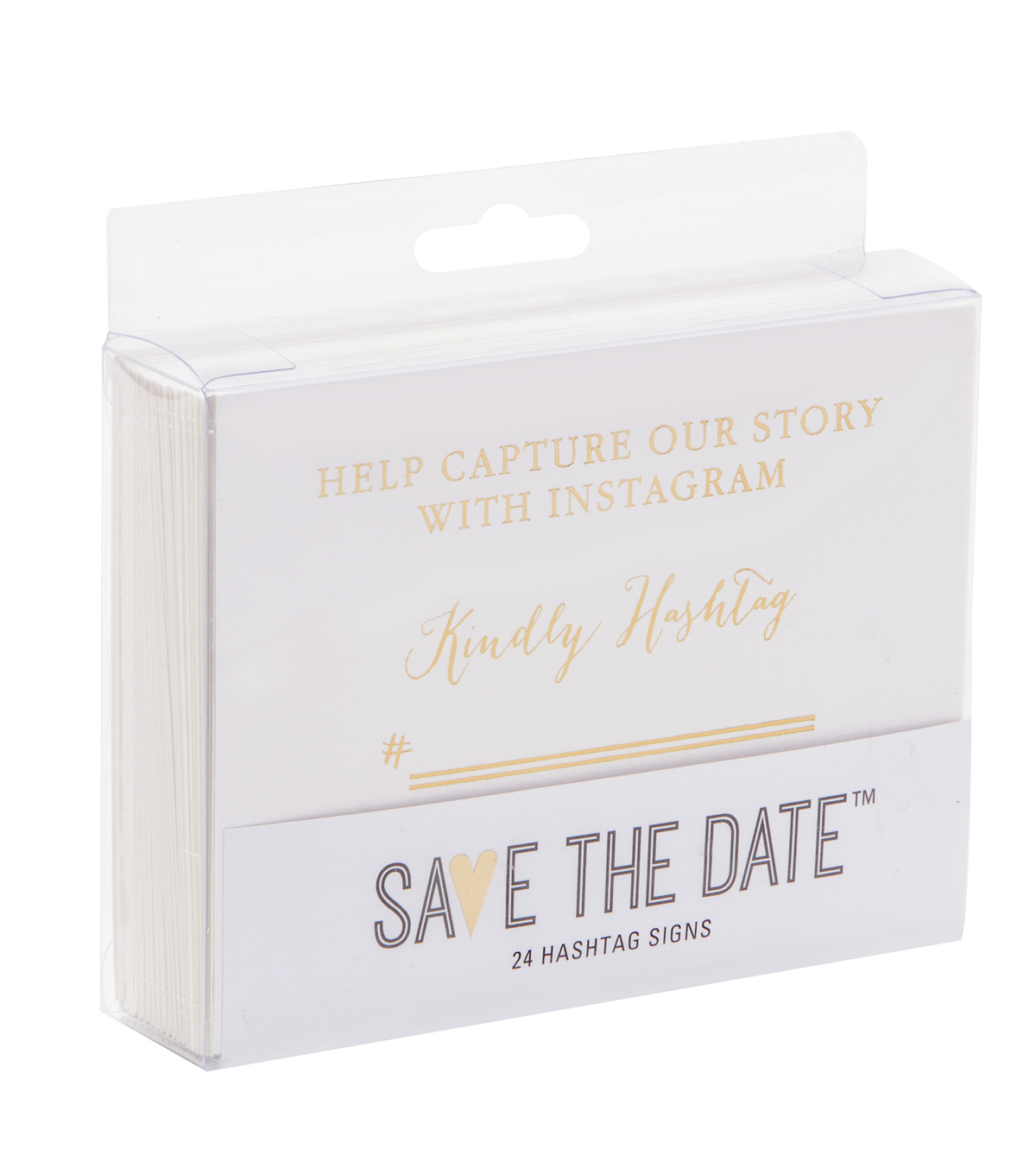 Save The Date™ Instagram Wedding Sign-Gold Kindly Hashtag