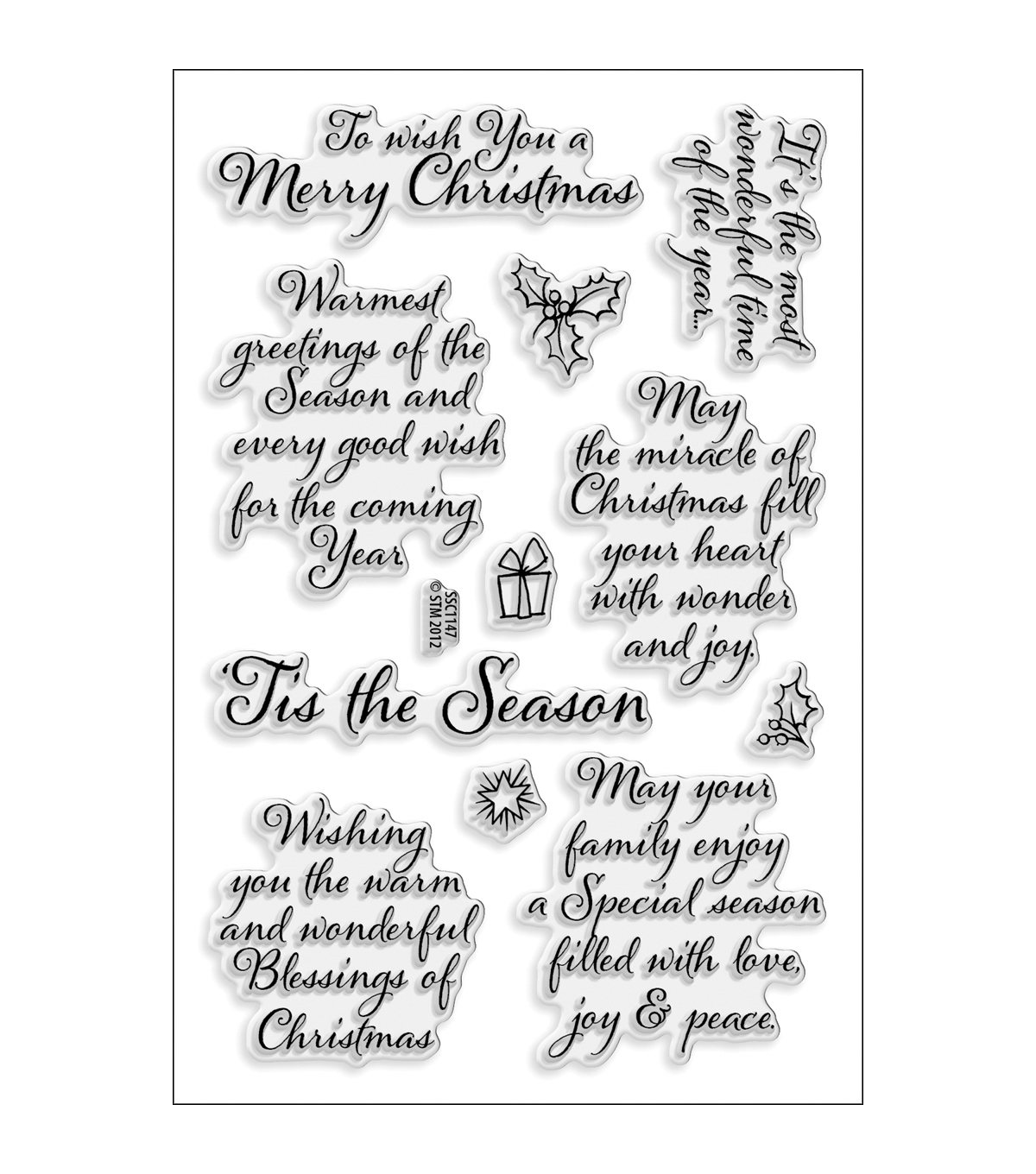 Stampendous Perfectly Clear Stamp Sheet Tis The Season