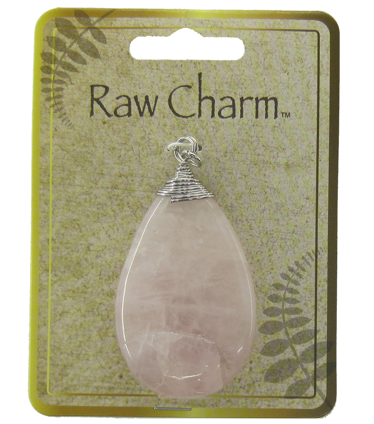 Naturals Raw Charm Pale Pink Teardrop Pendant